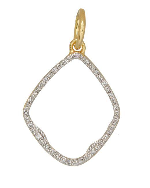 Monica Vinader - Metallic Gold Vermeil Diamond Riva Hoop Pendant - Lyst