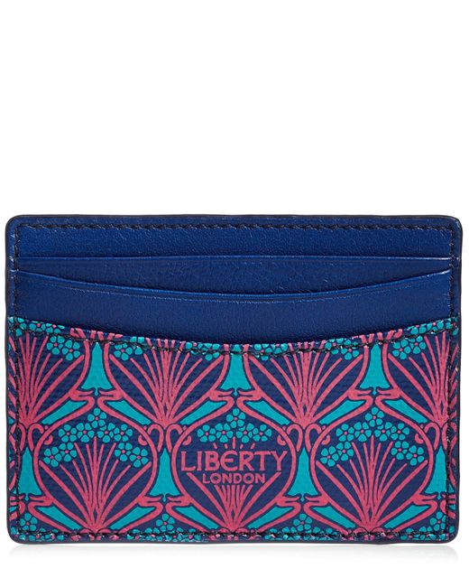 Liberty - Blue Card Holder In Iphis Canvas - Lyst