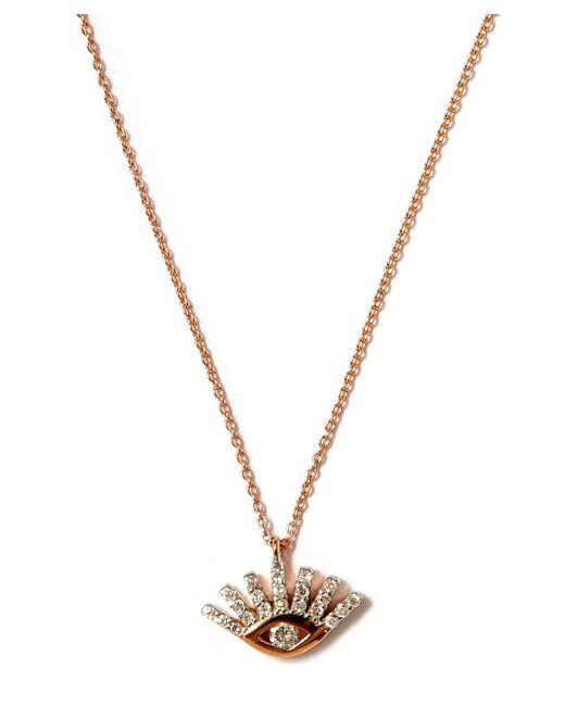 Kismet by Milka - Metallic Small Gold Lumiere Black Diamond Necklace - Lyst