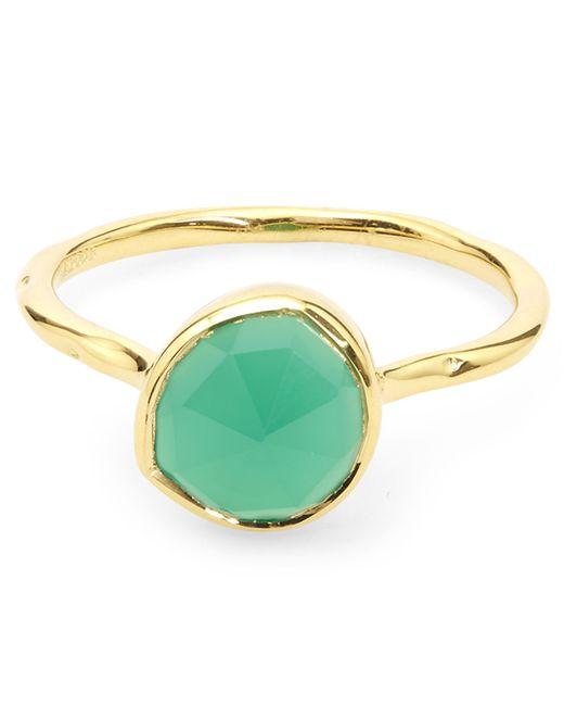 Gold Siren Stacking Ring Green Onyx Monica Vinader x7rtTqGRY