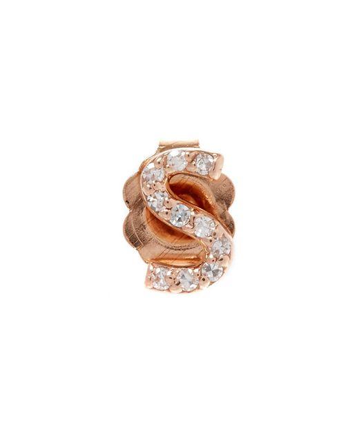 KC Designs - Multicolor Rose Gold Diamond S Single Stud Earring - Lyst