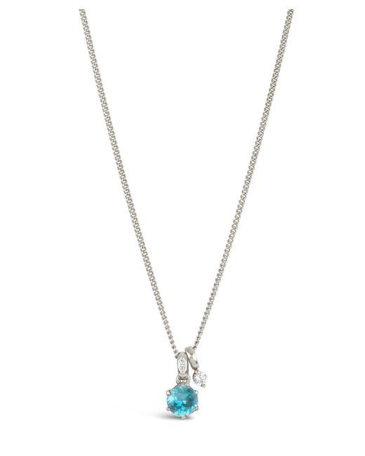 Dinny Hall - Metallic Silver Gem Drops Swiss Blue Topaz Pendant Necklace - Lyst