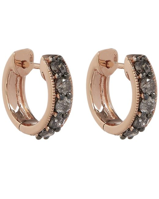 Annoushka - Metallic 18ct Rose Gold Dusty Diamonds Hoop Earrings - Lyst