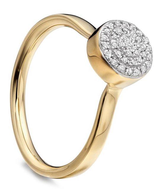 Monica Vinader - Metallic Gold Vermeil Diamond Ava Button Ring - Lyst