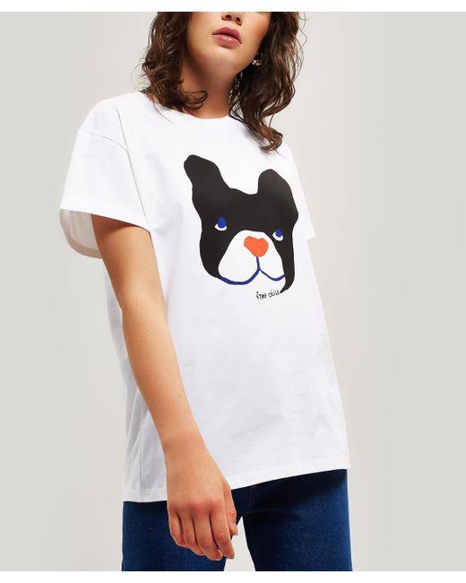 Être Cécile White Big Dog Oversized T-shirt
