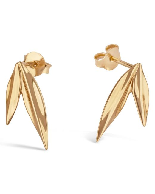 Dinny Hall - Metallic Gold-plated Lotus Double Petal Studs - Lyst