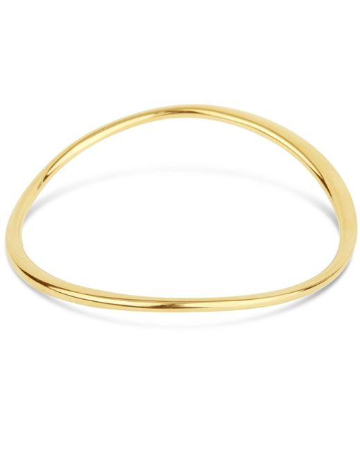 Dinny Hall | Metallic Gold-plated Wave Bangle | Lyst