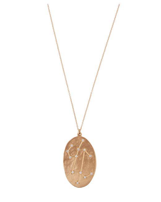 Brooke Gregson - Metallic Gold Leo Astrology Diamond Necklace - Lyst