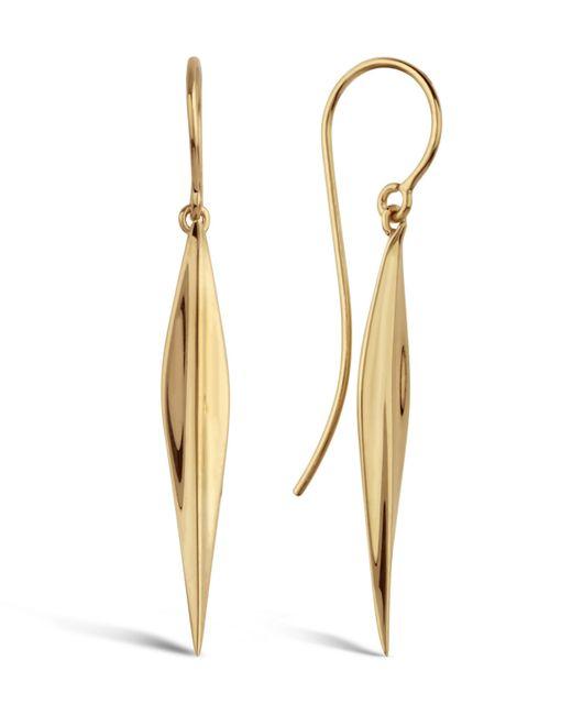 Dinny Hall - Metallic Long Gold-plated Lotus Petal Drop Earrings - Lyst