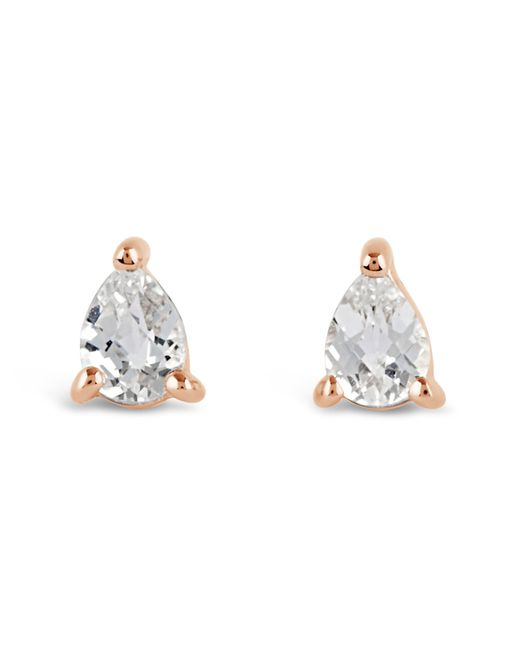 Dinny Hall - Metallic Rose Gold-plated Gem Drops White Topaz Pear Stud Earrings - Lyst