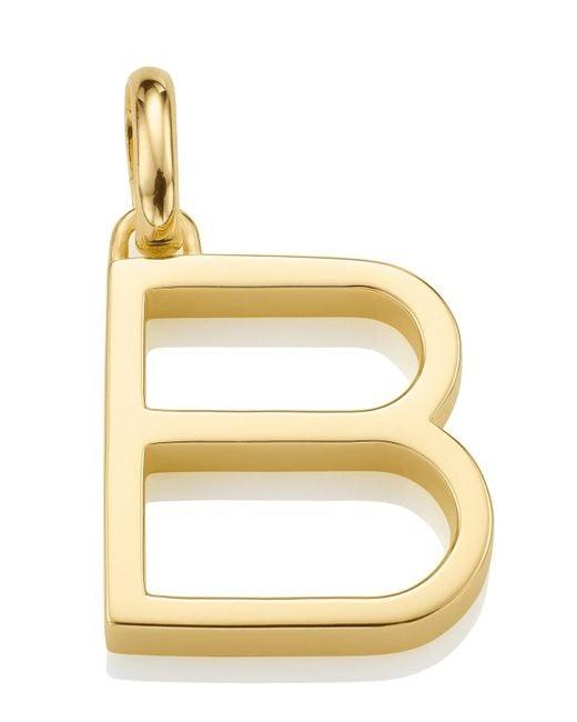 Monica Vinader | Metallic Gold-plated Alphabet Pendant B | Lyst