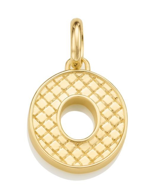 Monica Vinader | Metallic Gold-plated Alphabet Pendant O | Lyst