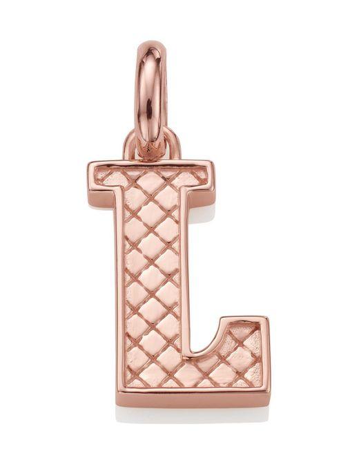 Monica Vinader | Pink Rose Gold-plated Alphabet Pendant L | Lyst