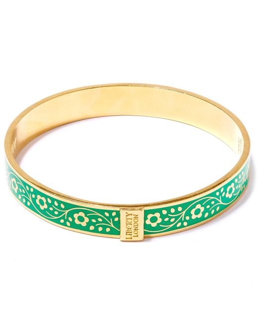 Liberty | Green Pemberley Solid Floral Bracelet | Lyst