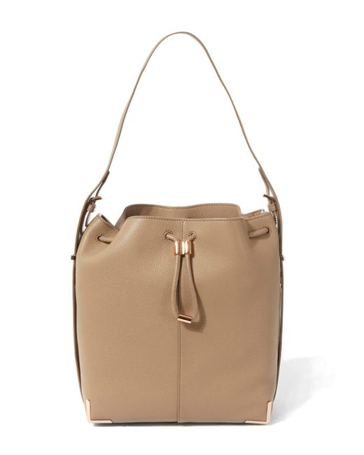 Alexander Wang | Natural Soft Pebbled Leather Prisma Drawstring Bucket Bag | Lyst