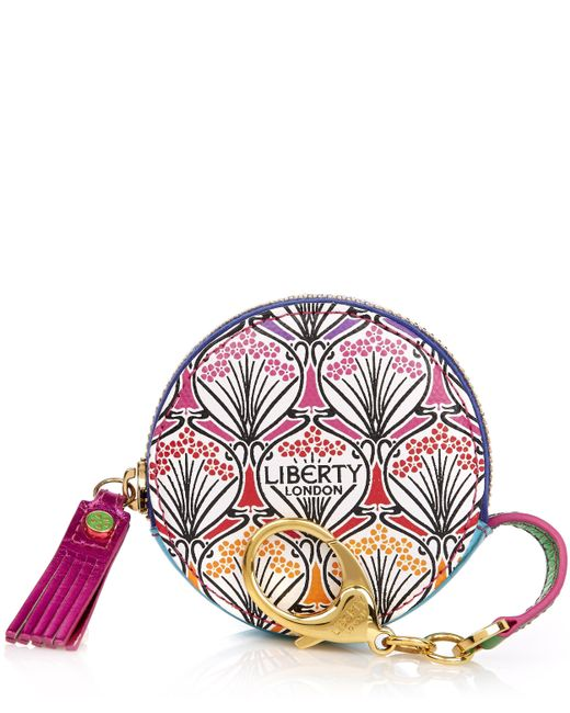 Liberty - Multicolor Round Coin Pouch In Rainbow Canvas - Lyst