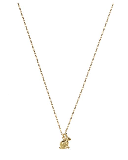 Alex Monroe | Metallic Gold-plated Sitting Bunny Necklace | Lyst