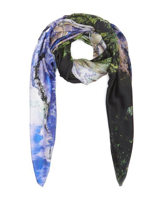 Weston | Purple North America Silk Satin Scarf | Lyst