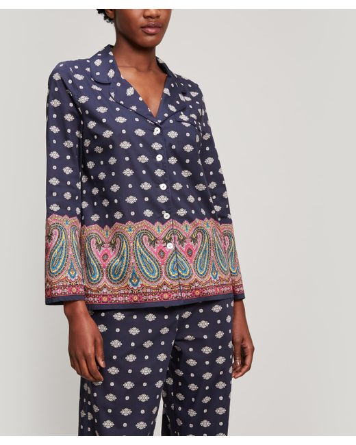 Liberty - Blue Persia Tana Lawn Cotton Long Pyjama Set - Lyst