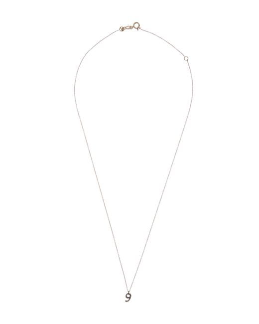 Kismet by Milka - White Rose Gold And Diamond Number 9 Necklace - Lyst