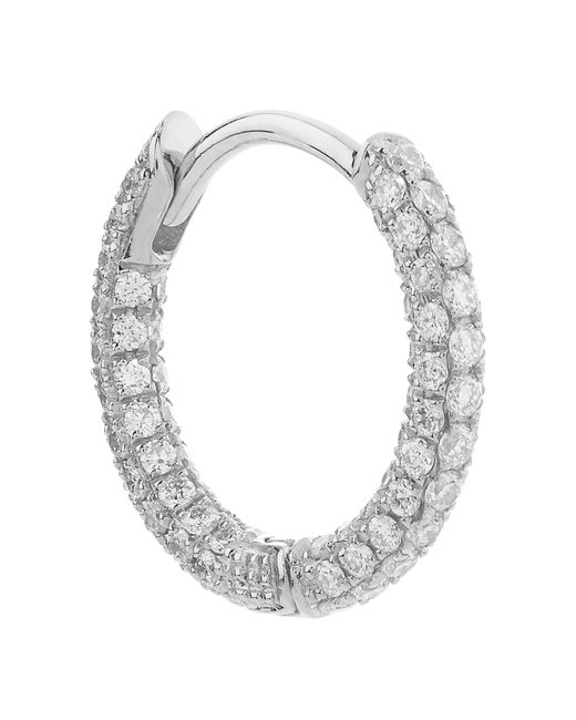 "Maria Tash | Metallic 5/16"" Diamond Five Row Pave Earring 