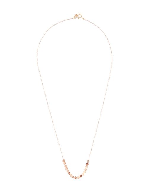 Sia Taylor - Metallic Rose Gold Dot Facet Bead Necklace - Lyst