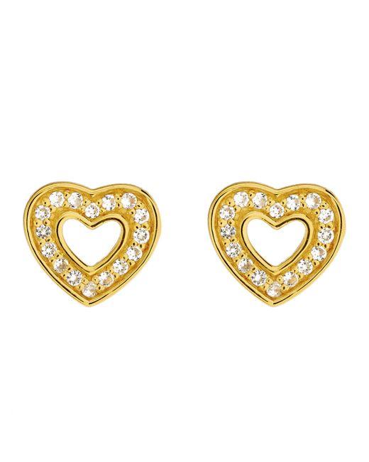 Astley Clarke - Metallic Gold-plated Mini Heart Biography Stud Earrings - Lyst