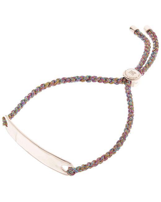 Monica Vinader - Multicolor Rose Gold-plated Havana Metallica Cord Friendship Bracelet - Lyst