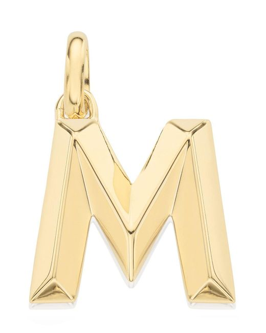 Monica Vinader - Metallic Gold-plated Alphabet Pendant A-z - Lyst