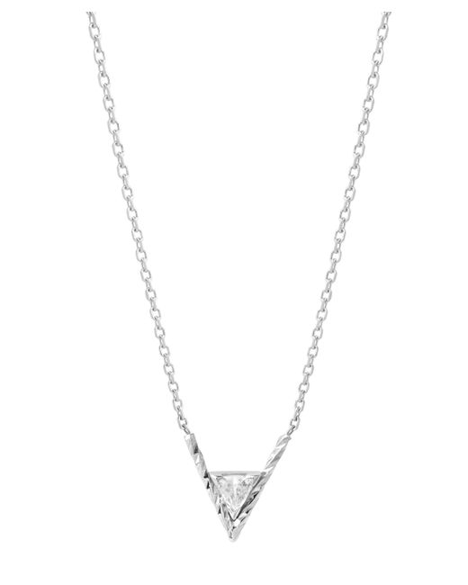 Maria Black - Metallic White Gold Diamond Cut Viper Necklace - Lyst