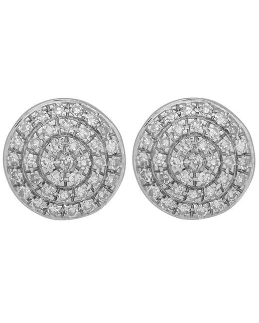 Monica Vinader - Metallic Gold Vermeil Diamond Ava Button Stud Earrings - Lyst
