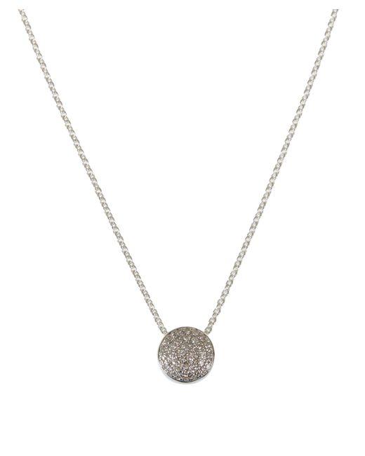 Monica Vinader - Metallic Silver Diamond Ava Button Necklace - Lyst