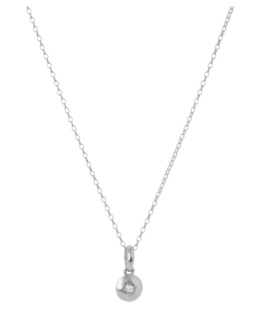 Dinny Hall - Metallic Silver Miniature Diamond Charm Pendant - Lyst