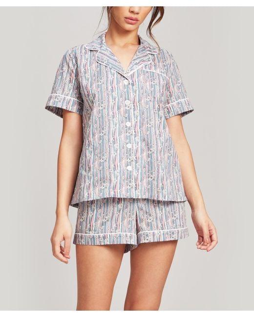 Liberty Pink Jonquil Tana Lawntm Cotton Short Pyjama Set