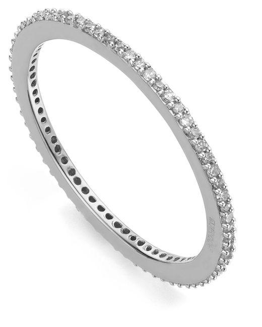 Monica Vinader - Metallic Silver Diamond Skinny Eternity Ring - Lyst