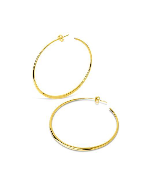 Dinny Hall - Metallic Large Vermeil Signature Tapering Hoop Earrings - Lyst