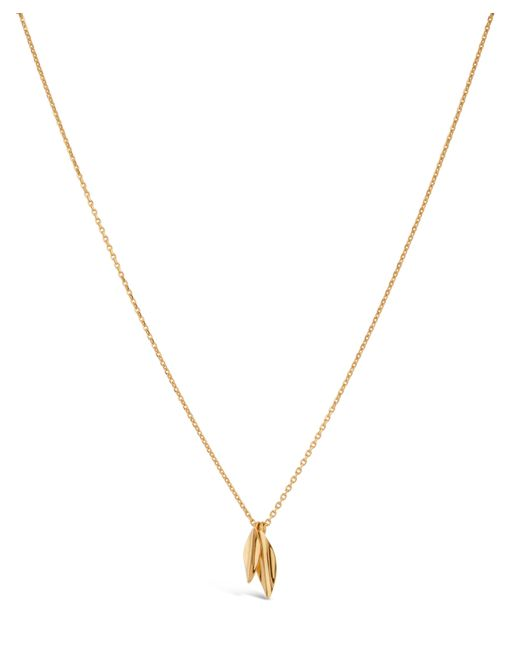 Dinny Hall - Metallic Gold-plated Lotus Double Petal Pendant - Lyst