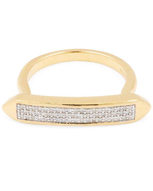 Monica Vinader - Metallic Gold-plated Baja Skinny Diamond Ring - Lyst
