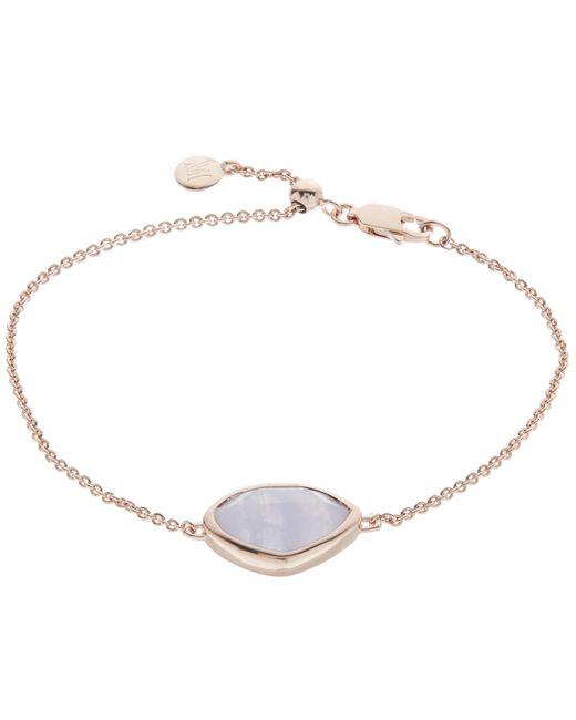 Monica Vinader   Multicolor Rose Gold-plated Blue Lace Agate Siren Teardrop Bracelet   Lyst