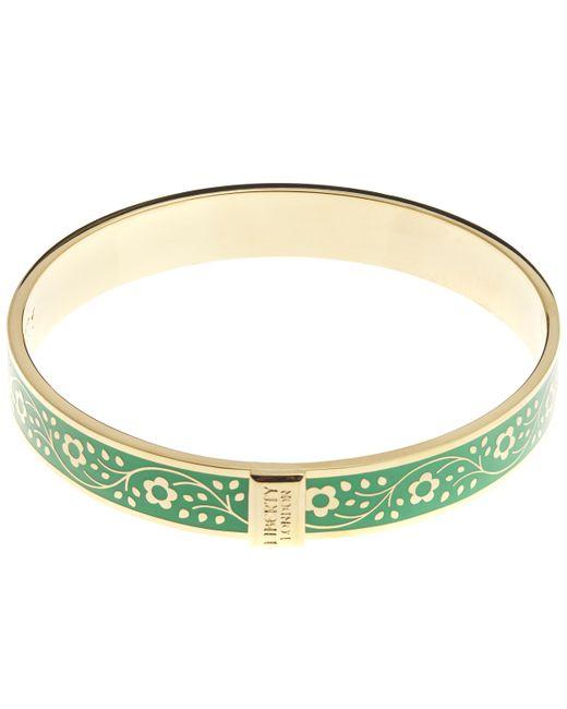 Liberty - Green Pemberley Enamel Solid Floral Bracelet - Lyst