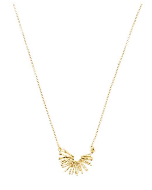 Alex Monroe - Metallic Gold-plated Nest Structure Half Circle Necklace - Lyst