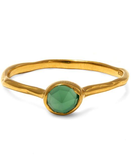 Monica Vinader - Metallic Gold Vermeil Green Siren Small Onyx Stacking Ring - Lyst