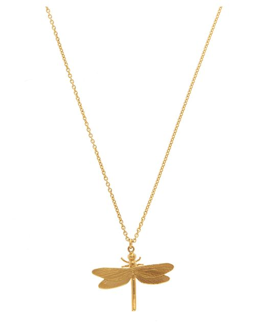 Alex Monroe - Metallic Gold-plated Dragonfly Necklace - Lyst