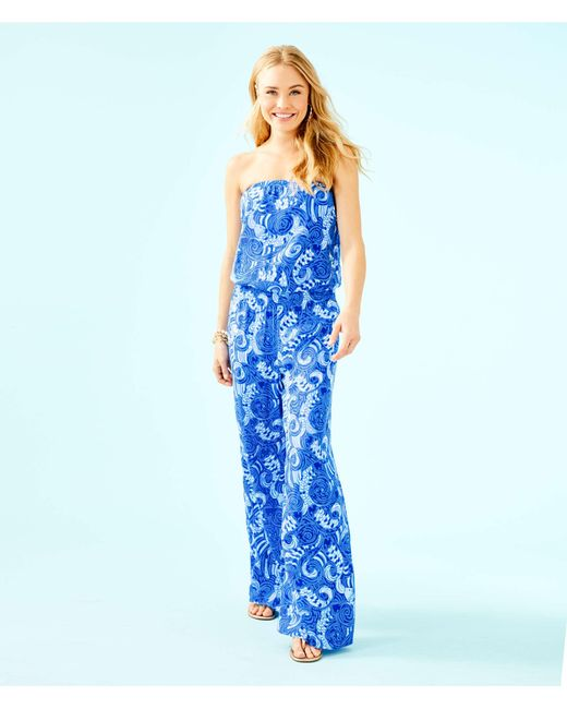555c97ce0aac Lilly Pulitzer - Pim Jumpsuit (blue Grotto So Offishal) Women s Jumpsuit    Rompers One ...