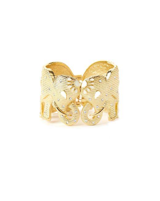 Lilly Pulitzer   Metallic Tusk Tusk Elephant Cuff Bracelet   Lyst