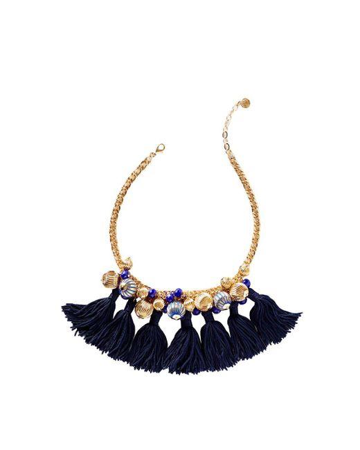 Lilly Pulitzer - Blue Starburst Cluster Necklace - Lyst
