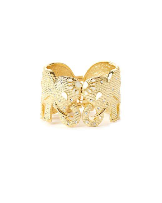 Lilly Pulitzer | Metallic Tusk Tusk Elephant Cuff Bracelet | Lyst