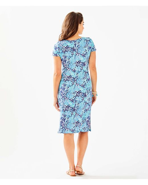 c84c7e43d9ee41 ... Lilly Pulitzer - Blue Malin Midi Dress - Lyst ...