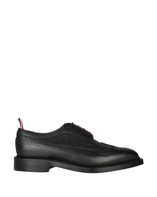 Thom Browne - Black Pebbled Grain Leather Derby Shoes for Men - Lyst
