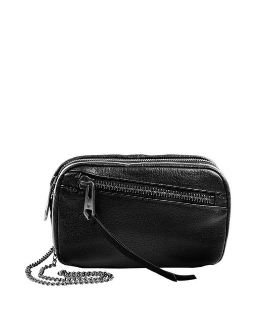 Linea Pelle | Black Wyatt Crossbody Bag | Lyst